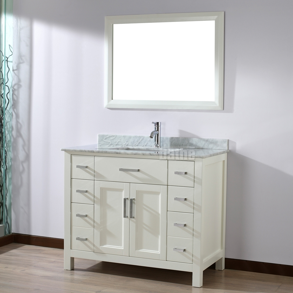 Bathroom vanities 42 inches wide white 42 inch vanity only for Bathroom cabinets 25cm wide